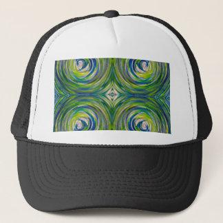 Ojo de toros del verde azul gorra de camionero