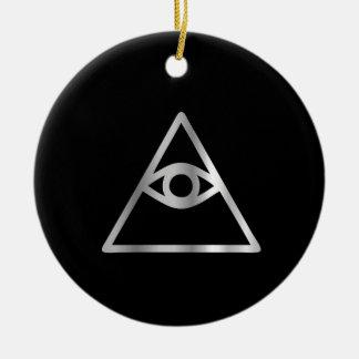 Ojo del Cao dai del icono religioso de Providence Ornamento Para Reyes Magos