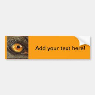 Ojo del elefante etiqueta de parachoque