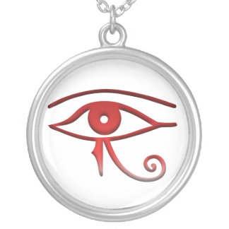 Ojo del horus collar plateado