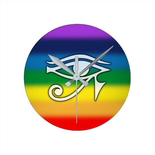 Ojo del reloj del arco iris de Horus