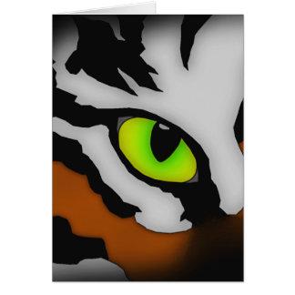 Ojo del tigre tarjeta de felicitación