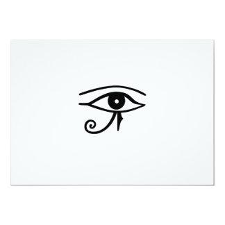 Ojo egipcio del ~ del jeroglífico de Horus Invitación 12,7 X 17,8 Cm