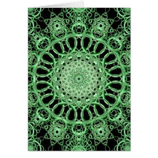 Ojo esmeralda tarjeta de felicitación