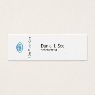 Ojo-Estafa azul del estilo de la prensa de copiar Tarjeta De Visita Pequeña