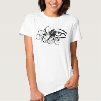 ojo floral del grunge camiseta
