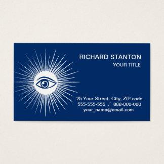 Ojo masónico tarjeta de visita