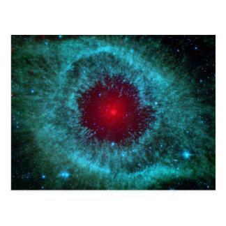 Ojo polvoriento de la nebulosa NGC 7293 de la Postal