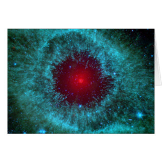 Ojo polvoriento de la nebulosa NGC 7293 de la Tarjeta De Felicitación