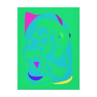 Ojo verde lona envuelta para galerias