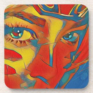 Ojos artísticos contemporáneos infrecuentes posavasos