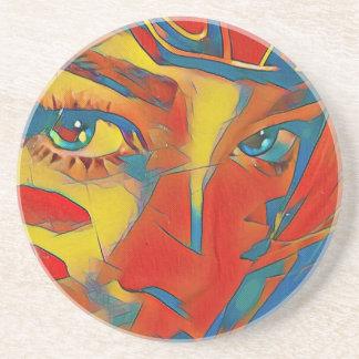 Ojos artísticos contemporáneos infrecuentes posavasos de arenisca