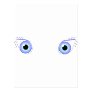 Ojos azules en colores pastel bonitos tarjetas postales