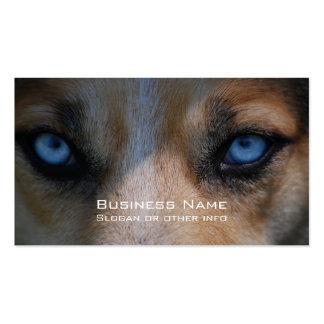 Ojos azules helados del colmillo tarjetas de visita