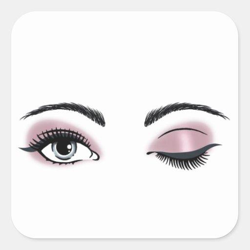 Ojos coquetos etiquetas