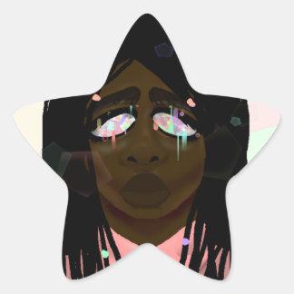 Ojos cristalinos pegatina en forma de estrella