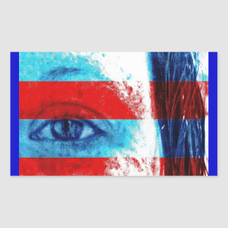 Ojos de América Rectangular Pegatinas