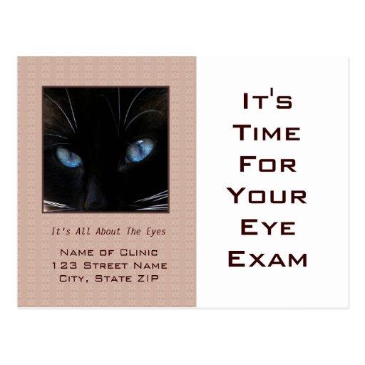 Ojos de gato azul del recordatorio de la cita del  tarjetas postales