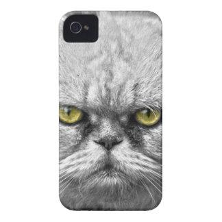 Ojos de gato de oro enojados carcasa para iPhone 4