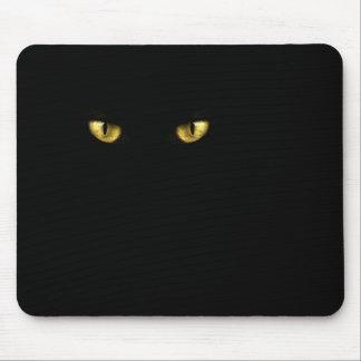 Ojos de gato negro Mousepad