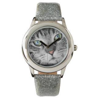 Ojos de gato reloj de pulsera