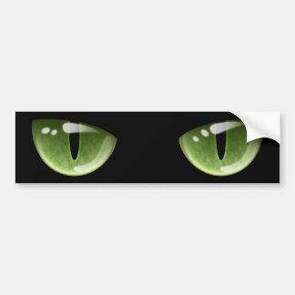 Ojos de gato verdes de Halloween Pegatina Para Coche