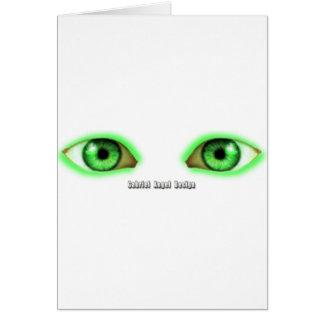 Ojos de la envidia tarjeta de felicitación