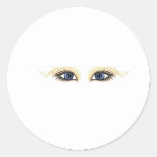 ojos de la tela pegatinas redondas