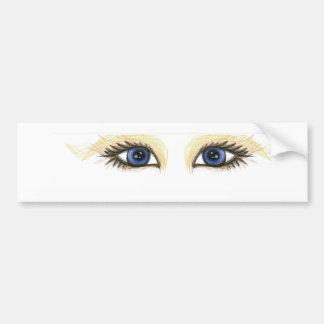 ojos de la tela pegatina para coche