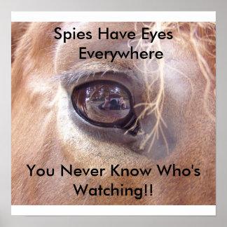 Ojos de los espías impresiones