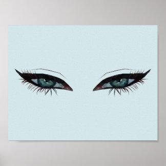 Ojos de perforación póster