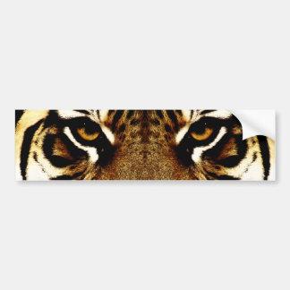 Ojos de un tigre pegatina para coche