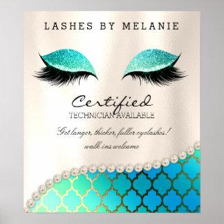 Ojos del bonito del poster del maquillaje de la póster