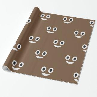 Ojos del emoji del impulso y papel de embalaje de