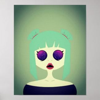 Ojos del espacio póster