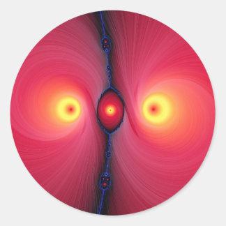 Ojos del fractal pegatina redonda