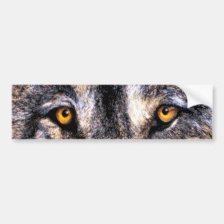 Ojos del lobo pegatina para coche