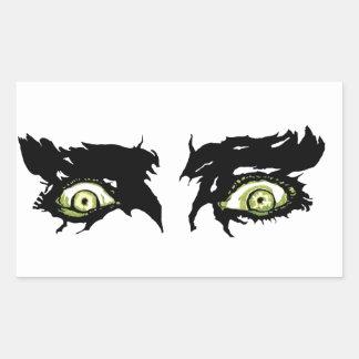 OJOS del ZOMBI - ojos pícaros asustadizos Rectangular Pegatinas
