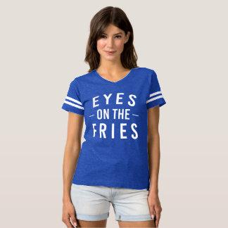 Ojos en la camiseta de fútbol de las fritadas