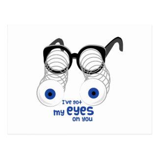 Ojos en usted postal