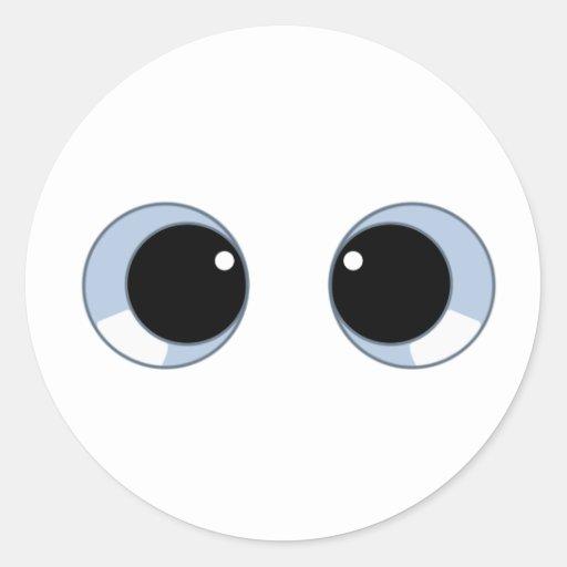 ojos googly etiquetas redondas