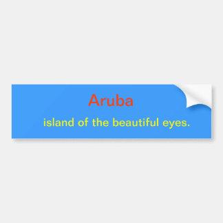Ojos hermosos de la isla de Aruba Pegatina Para Coche