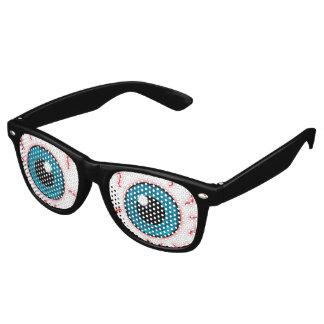 Ojos inyectados en sangre maniacos gafas de sol