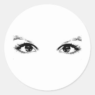 ojos morados pegatinas