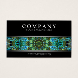 Ojos verdes modernos del búho tarjeta de negocios