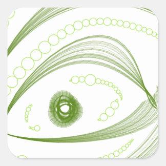 Ojos verdes.png pegatina cuadrada
