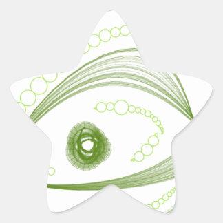 Ojos verdes.png pegatina en forma de estrella