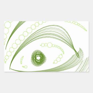 Ojos verdes.png pegatina rectangular