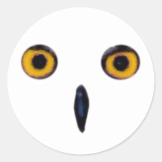 Ojos viejos sabios del búho pegatina redonda
