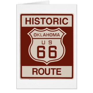 Oklahoma histórica RT 66 Tarjeta De Felicitación